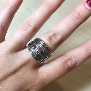 Lia Sophia Wound Up Silver Tone Fashion Ring, 8